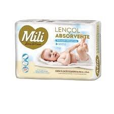 Lençol Absorvente Descartável Infantil Milli c/5