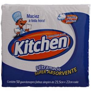 Guardanapos de Papel 22 x 22 Kitchen com 50 (Pequeno)