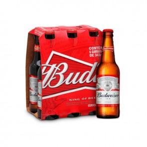 Cerveja Budweiser de 6 com 343ml