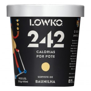 Sorvete LowKo 242C Baunilha 455ml