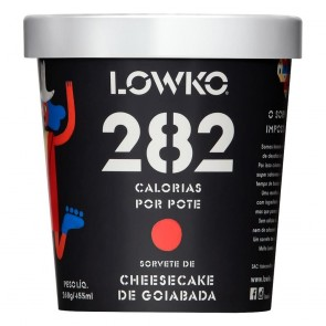 Sorvete LowKo 282C Cheesecake de Goiabada 455ml