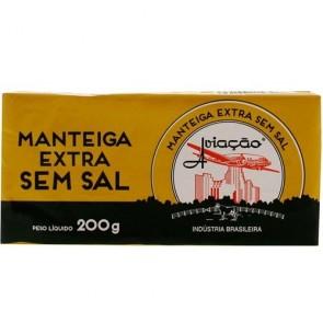 Manteiga Extra Sem Sal Aviação 200g