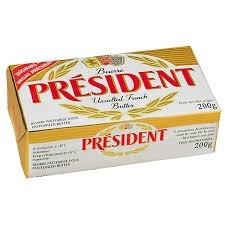 Manteiga Tablet President SEM sal 200g
