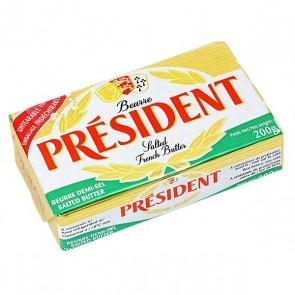 Manteiga Tablet President com sal 200g
