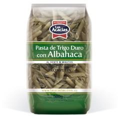 Massa Trigo duro com Albahaca Tropetin Las Acacias 500g