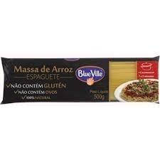 Massa Espaguete De Arroz Blue Ville 500g