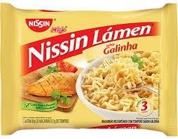 Massa Lámem Nissin Sabor Galinha 85g