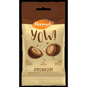 Yow! Confeito de Amendoim Coberto c/ Chocolate Zero Flormel 40g