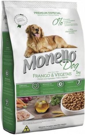 Ração Para Cachorro Monello Dog Sabor Frango e Vegetais 1kg