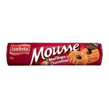 Biscoito Recheado Morango/Chocolate Mousse Isabela 150g