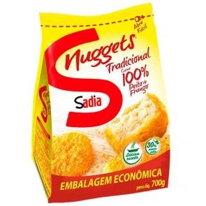 Nuggets de Frango Tradicional Sadia Embalagem Econômica 700g