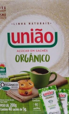 Açúcar Orgânico em Saches 200g Contem 40un de 5g