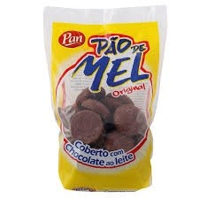 Pão de Mel cobertura Chocolate ao leite Pan 200g