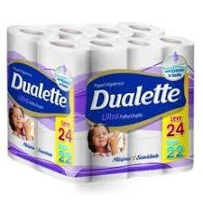 Papel Higiênico folha dupla Dualette Elite 24 rolosx30m