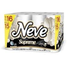 Papel Higiênico Neve Supreme 16x20cm