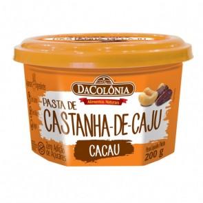 Pasta Castanha de Caju Cacau DaColônia 200g