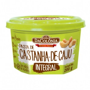 Pasta Castanha de Caju Integral DaColônia 200g
