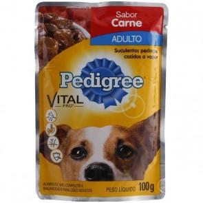 Sachê Pedigree Para Cão Adulto Sabor Carne Ao Molho 100g