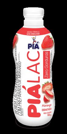 Bebida Lactea Pia Lac Zero Gorduras Morango 900g