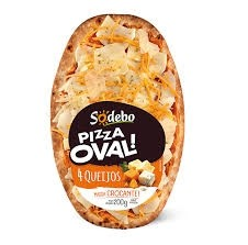 Pizza Oval 4 Queijos Sodebo 200g