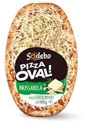 Pizza Oval Mussarela Sodebo 200g