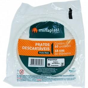 Prato Descartavel Minaplast 3011 BR  18cm c/10