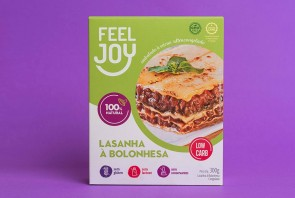 Lasanha Bolonhesa Low S/Glúten S/Lactose Feel Joy 300g