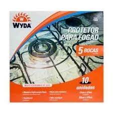 Protetor Alumínio Fogão 5 Bocas Wyda com 10 unidades
