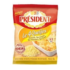 Queijo Ralado Le 4 Queijos President 100g