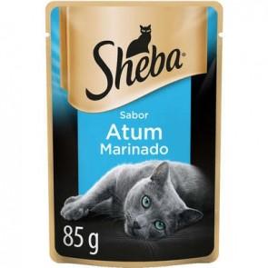 Sachê Alimento para Gato Atum Marinado Sheba 85g