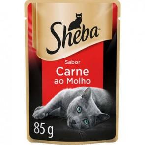Sachê Alimento para Gato Carne Sheba 85g