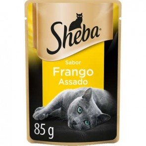 Sachê Alimento para Gato Frango Assado Sheba 85g