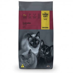 Alimento p/ Gatos Castrados Three Cats Original 3kg