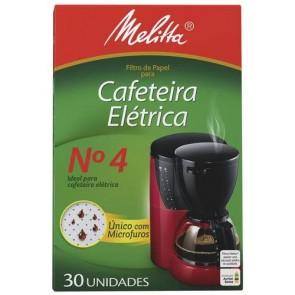 Filtro de Papel nº4 Cafeteira Elétrica Melitta C/ 30