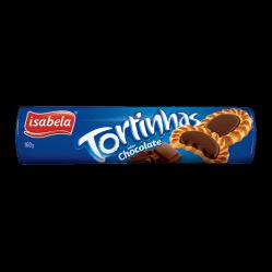 Biscoito Tortinhas Chocolate  Isabela160g