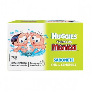 Sabonete Huggies turma da Monica Camomila