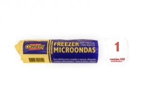 Saco Plástico para Congelar e Aquecer Alimentos Conserv 1L 19cm x 23cm c/100
