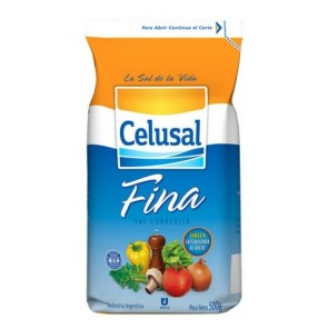Sal Fino Refinado Celusal 500g