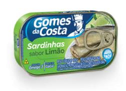 Sardinha Gomes da Costa Limão 125g