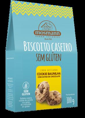 Biscoito Cookies Baunilha C/ Gotas de Chocolate S/Glúten Mosmann 100g