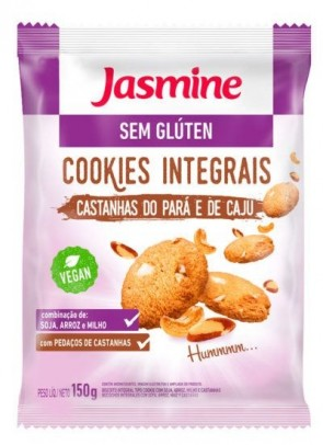 Cookies Castanha do Para e Caju s/glúten Vegan Jasmine 150g