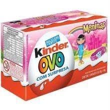 Chocolate Kinder Ovo Meninas c/2 unidades 40g