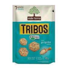 Biscoito Snacks 7 Grãos Gergelim Original Tribos Mãe Terra 50g