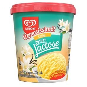 Sorvete Creme Zero Lactose Kibon 800mL