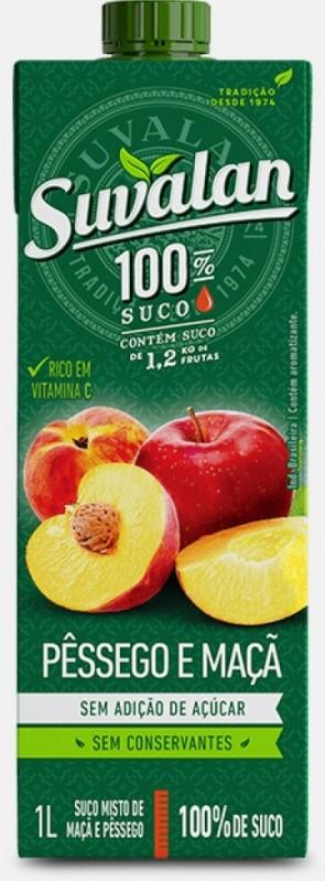Suco 100% suco Maçã com Pêssego Suvalan 1 litro