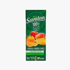 Suco Suvalan 100% Mix Maça/Laranja/Manga 200ml - 3 unid.