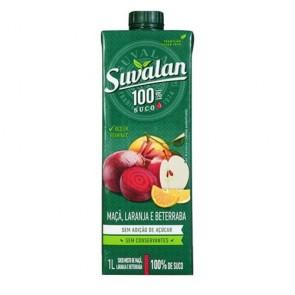 Suco Suvalan 100% Maça, Beterraba e Laranja 1L
