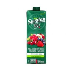 Suco Suvalan 100% Maça, Cranberry, Mirtilo, Framboesa e Morango 1L