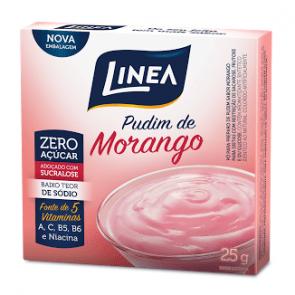 Pudim Zero Açúcar Morango Linea 25g