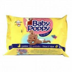Toalha Umedecida Baby Poppy C/100